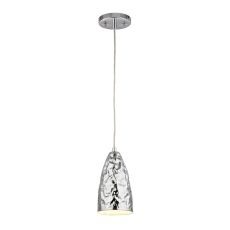 Hammersmith 1 Light Pendant In Hammered Polished Chrome