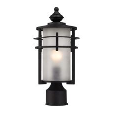 Meadowview 1 Light Outdoor Post Lantern In Matte Black