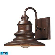 Marina 1 Light Outdoor Led Sconce In Hazelnut Bronze