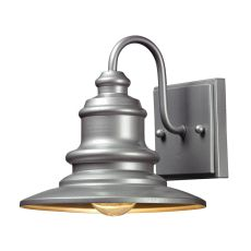 Marina 1 Light Outdoor Sconce In Matte Silver