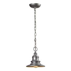 Marina 1 Light Outdoor Pendant In Matte Silver