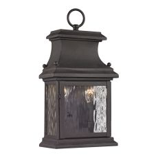 Forged Provincial 2 Light Outdoor Sconce In Charcoal