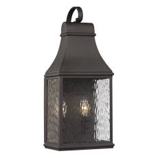 Forged Jefferson 2 Light Outdoor Sconce In Charcoal