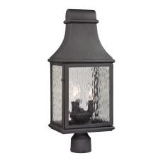 Forged Jefferson 3 Light Outdoor Post Lamp In Charcoal