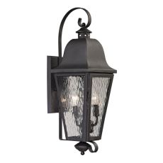 Forged Brookridge 2 Light Outdoor Sconce In Charcoal