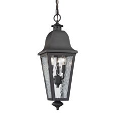 Forged Brookridge 3 Light Outdoor Pendant In Charcoal