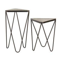 Set Of 2 Angular Side Tables