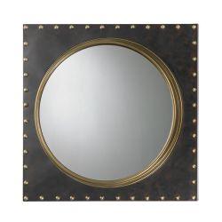 Metal Frame Rivet Porthole Mirror