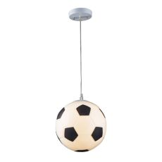 Novelty 1 Light Soccer Ball Pendant In Silver