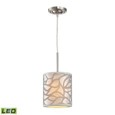 Autumn Breeze 1 Light Led Pendant In Brushed Nickel