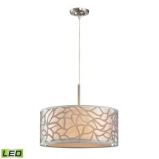 Autumn Breeze 3 Light Led Pendant In Brushed Nickel