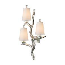 Sprig 3 Light Wall Sconce In Silver Leaf