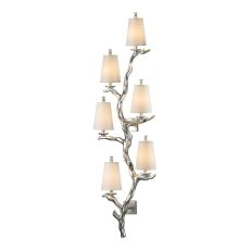 Sprig 6 Light Wall Sconce In Silver Leaf