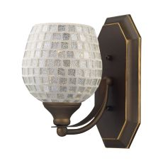 Bath And Spa 1 Light Vanity In Aged Bronze And Silver Glass