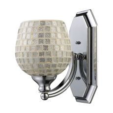 Bath And Spa 1 Light Vanity In Polished Chrome And Silver Glass