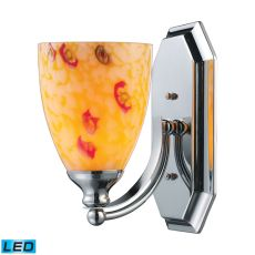 Bath And Spa 1 Light Led Vanity In Polished Chrome And Yellow Glass