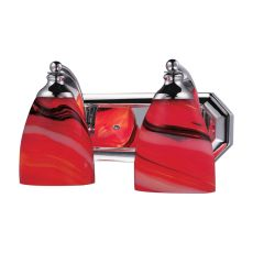 Bath And Spa 2 Light Vanity In Polished Chrome And Candy Glass