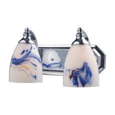 Bath And Spa 2 Light Vanity In Polished Chrome And Mountain Glass