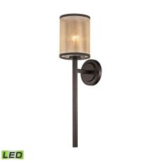 Diffusion 1 Light Led Wall Sconce In Oil Rubbed Bronze