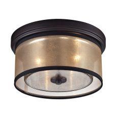Diffusion 2 Light Flushmount In Oil Rubbed Bronze