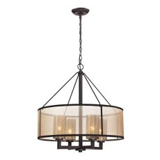 Diffusion 4 Light Chandelier In Oil Rubbed Bronze