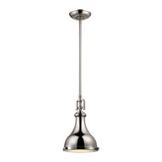 Rutherford 1 Light Pendant In Polished Nickel