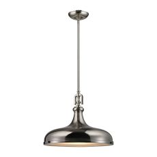 Rutherford 1 Light Pendant In Brushed Nickel