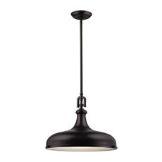 Rutherford 1 Light Pendant In Oil Rubbed Bronze
