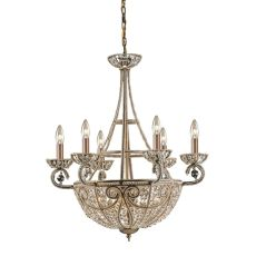 Elizabethan 10 Light Chandelier In Dark Bronze