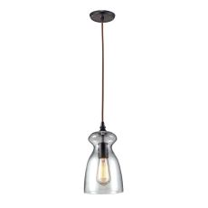 Menlow Park 1 Light Pendant In Oil Rubbed Bronze