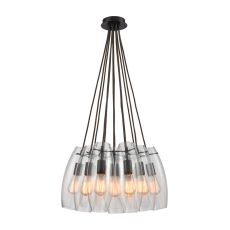 Menlow Park 12 Light Pendant In Oil Rubbed Bronze