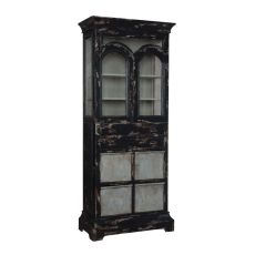Farmhouse Kitchen Display Cabinet, Black