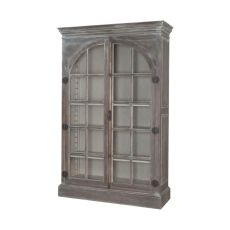 Manor Arched Door Display Cabinet, Waterfront Grey Stain