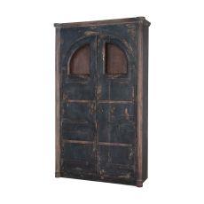 Farmhouse Rustic Armoire, Natural Aged Stain, Vintage Noir