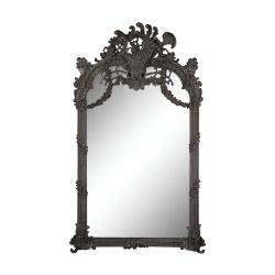 Renaissance Scroll Mirror In Black Ash