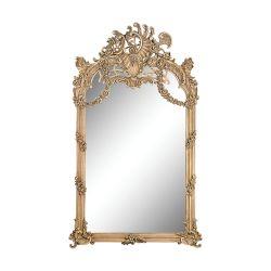 Renaissance Scroll Mirror In Russian Oak