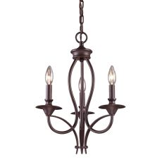 Medford 3 Light Chandelier In Oiled Bronze