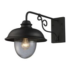 Streetside Cafe 1 Light Outdoor Wall Sconce In Matte Black