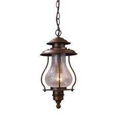Wickshire 1 Light Outdoor Pendant In Coffee Bronze