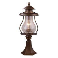 Wikshire 1 Light Outdoor Post Mount In Coffee Bronze