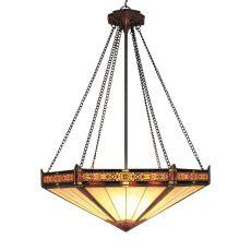 Filigree 3 Light Pendant In Aged Bronze