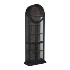 Round Top Display Cabinet, Gray