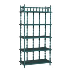 Tall Spindle Shelf, Green