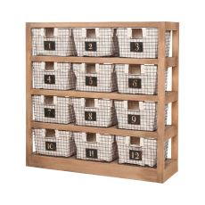 Locker Baskets With Shelves, Honey Oak