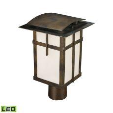 San Fernando 1 Light Outdoor Led Post Light In Hazelnut Bronze - Title 24 Compliant