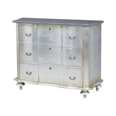 Petite Duchess Chest In Antique Silver Leaf And Smoke
