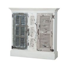 Waterfront Hall Cabinet In Garden Lattice White, Garden Lattice White