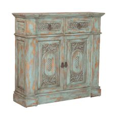 Vintage Hall Chest, Green