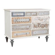 Mirror Mosaic Dresser, White