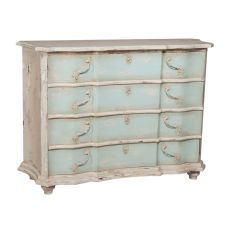 Small Duchess Chest, Cream, Blue